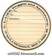 pharmacy blank label