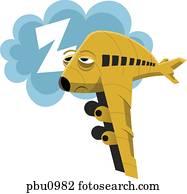 A sleepy airplane