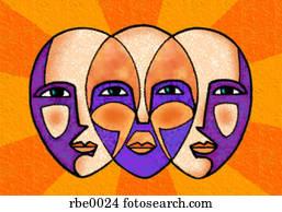 three faces united