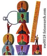 measuring people with calipers and ruler