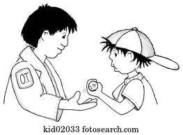 stock illustration of illustration of physical therapist helping Pediatric Occupational Therapy Handwriting illustration of occupational therapist helping child perform hand exercise