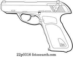 clipart of germany h k p7 22p0314 search clip art illustration HK USP 45 germany h k p9s