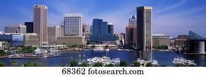 Inner Harbor Federal Hill Skyline Baltimore MD