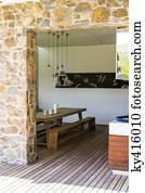 Pietra veranda archivi fotografici e di immagini for Disegni veranda anteriore