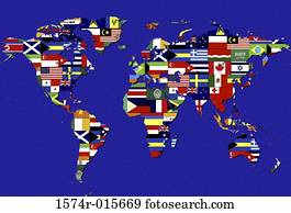 Stock images of textbooks with covers made from different world world map covered with flags of different nations gumiabroncs Gallery