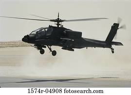 AH-64 Apache helicopter landing
