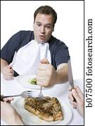 Overweight Man With A Shotgun Picture B11794 Fotosearch