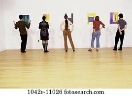 group, multiethnic, people, arts, view, looking, behind
