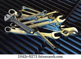 tools, still life, metal, wrenches, adjustable, Hardware still lifes