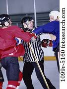 men, sports, helmets, winter sports, opponents, fight, hockey