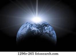 light, world, shining, glowing, Ray, beam