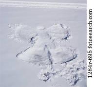overhead, snow, winter, nature, angel, fun, picture