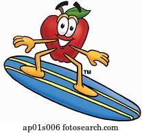 apfel, surfen