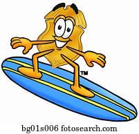 abzeichen, surfen