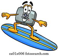 fotoapperat, surfen