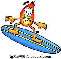 flamme, surfen