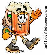 Beer mug hiking