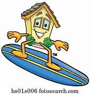 haus, surfen