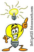 Light bulb with bright idea
