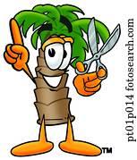 Palm tree with scissors
