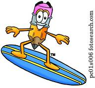 bleistift, surfen