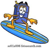 reisekoffer, surfen
