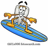 zahn, surfen