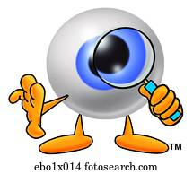 eye ball with magnifying glass
