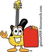 gitarre, mit, preisetikett
