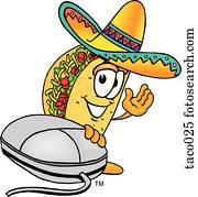 taco, und, maus