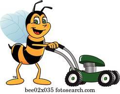 Bumble Bee 2 pushing Lawn Mower