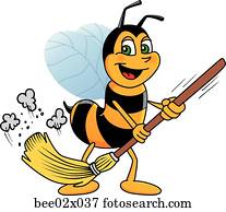 Bumble Bee 2 Sweeping with Broom