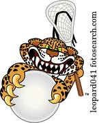 Leopard playing Lacrosse