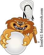 Lion playing Lacrosse