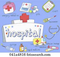 abbildung, von, klinikum, güter
