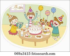 Birthday Party Clip Art Illustrations 180 998 Birthday Party