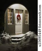 Natale archi archivi fotografici e di immagini - Entrata di casa ...