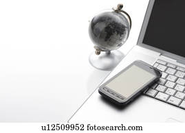 Globe and Smart Phone on Desk