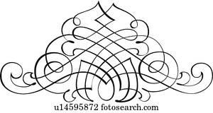 dekorativ, Calligraphic, design