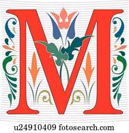 Regal letter M