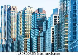 Banque de photographies usa new york grand bâtiments bureau à