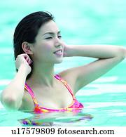 Immagine costume da bagno bella donna belle donne estate schizzo cinese asiatico - Ragazze belle in costume da bagno ...
