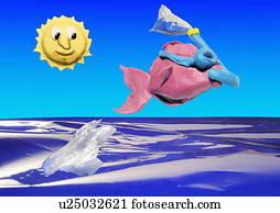 Pisces:, fische, gehen, snorkeling