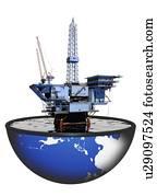Oil rig, artwork