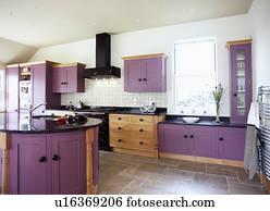 Terrazzo Fußboden Küche ~ Rot gepaßt einheit in modernes weiß kueche mit terrazzo