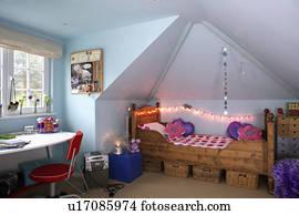 images rose voile tente au dessus lit dans rose adolescent chambre coucher bleu. Black Bedroom Furniture Sets. Home Design Ideas