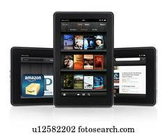 Amazon Kindle Fire tablet computer e-book reader displaying book