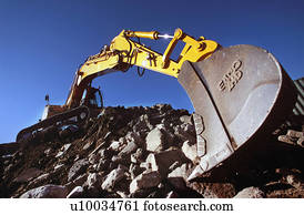 Crawler excavator on brownfiled site.