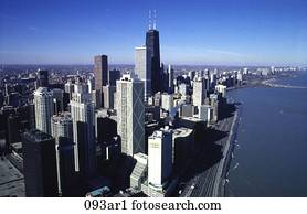 Skyscrapers and Skyline Chicago USA